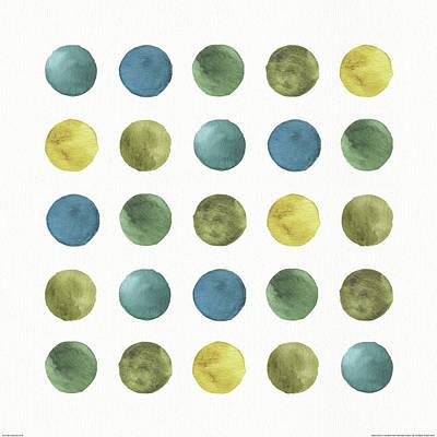 Grid Painting - My Greenhouse Geo Iv by Lisa Audit