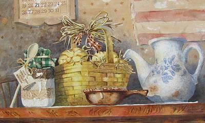 Painting - My Group by Tony Caviston