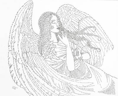 Drawing - My Guardian Angel by Lorraine Foster