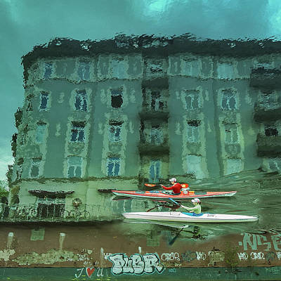 Paddler Wall Art - Photograph - My Hamburg by Ambra