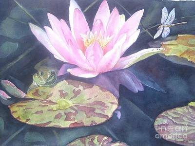 Waterlily Painting - My Handsome Prince by Patricia Pushaw