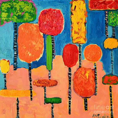 My Happy Trees 2 Art Print by Ana Maria Edulescu