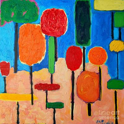 Baloon Painting - My Happy Trees by Ana Maria Edulescu