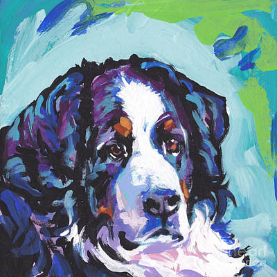 Bernese Mountain Dog Painting - My Heart Berner by Lea S