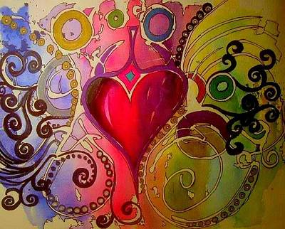 Painting - My Heart by Esther Woods