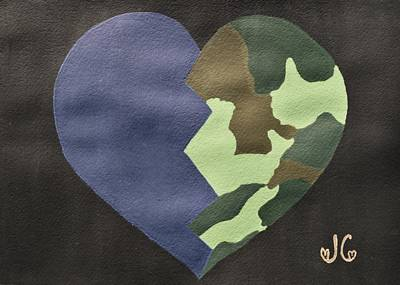 Iraq Painting - My Heart by Jessica Cruz