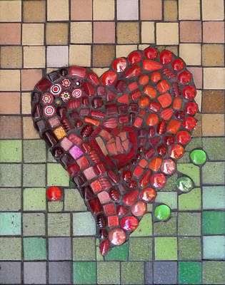 Millefiori Mixed Media - My Heart by Julie Mazzoni