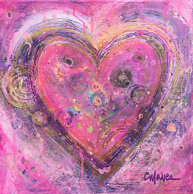 Painting - My Heart Of Circles by Laurie Maves ART
