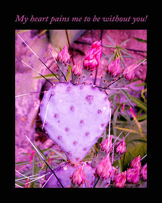 Cactus Photograph - My Heart Pains Me To Be Without You 3 by Tamara Kulish