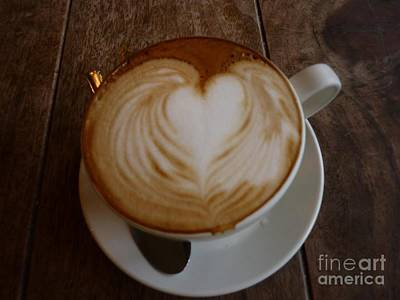 Photograph - My Heart Runneth Over Latte by Susan Garren