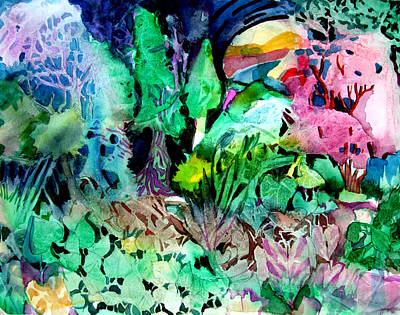 Mystical Landscape Drawing - My Hearts Delight by Mindy Newman