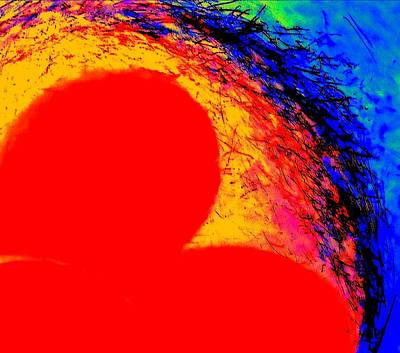 Digital Art - My Heart's On Fire Pillow By Vivian Anderson by Artists for Altered Cats Cyprus