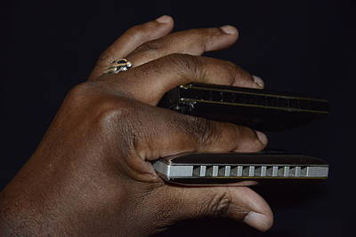 Photograph - My Afro Blues Harmonica - Double Play Blues by Teo SITCHET-KANDA