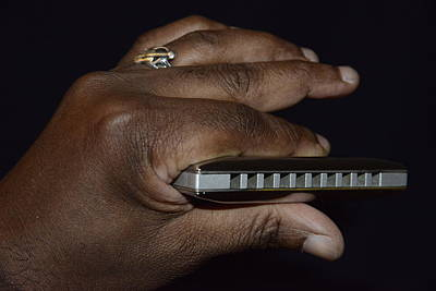 Photograph - My Afro Blues Harmonica - Solo Blues by Teo SITCHET-KANDA