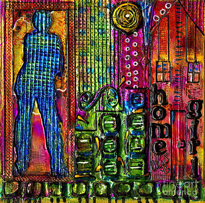Art Journal Mixed Media - My Home Girl by Angela L Walker