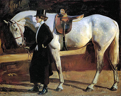 My Horse Is My Friend  Art Print by Alfred James Munnings