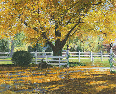 Horse Fence Painting - My House by Don  Langeneckert