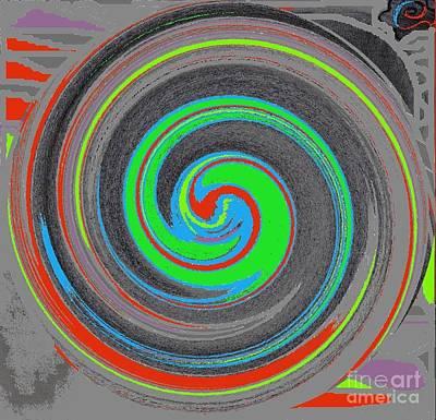 Art Print featuring the digital art My Hurricane by Catherine Lott