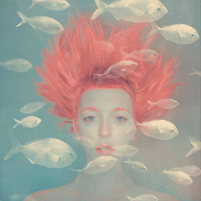 My Imaginary Fishes Print by Anka Zhuravleva