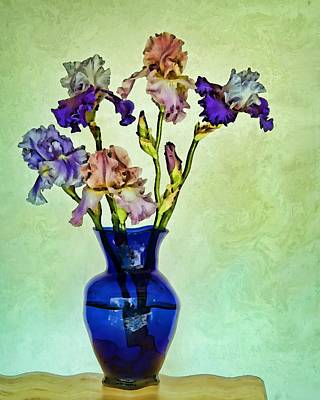 Indoor Plants Digital Art - My Iris Vincent's Genius by Nikolyn McDonald
