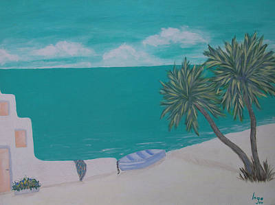 Painting - My Island by Inge Lewis