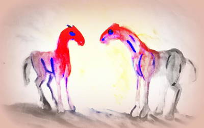 We Are Painting The Horses Because There Are A Lot Of Things We Can't Say To Anyone  Art Print