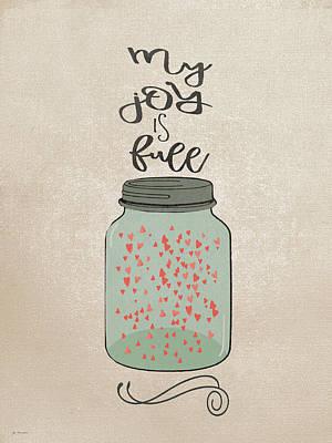 Firefly Painting - My Joy by Jo Moulton