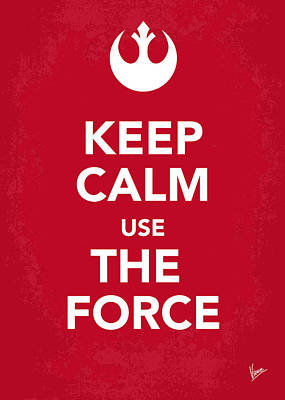 Darth Vader Digital Art - My Keep Calm Star Wars - Rebel Alliance-poster by Chungkong Art