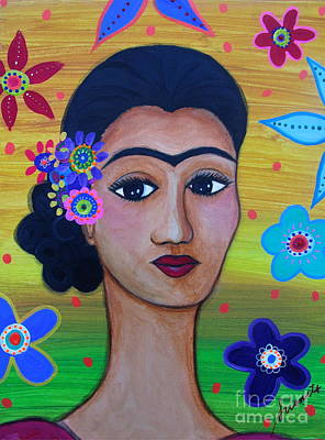 Painting - My Lady Frida Kahlo by Pristine Cartera Turkus