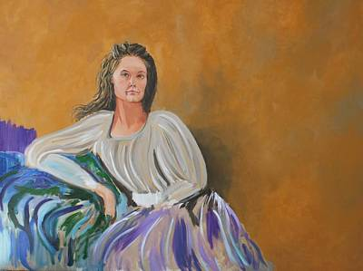 Painting - Lady by Marwan  Khayat