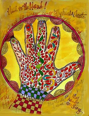 Drawing - My Left Hand by Phyllis Anne Taylor Pannet Art Studio
