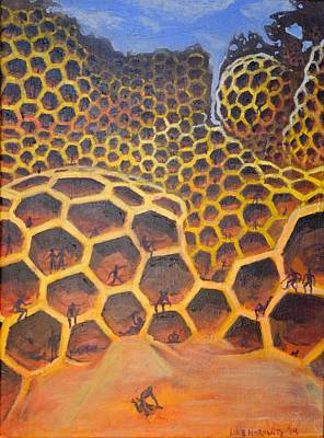 Whimsical Painting - My Life For The Hive by Luke Horowitz