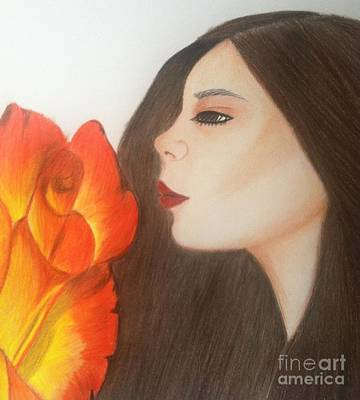Inspired Drawing - My Life Is Like A Rose by Saribelle Rodriguez