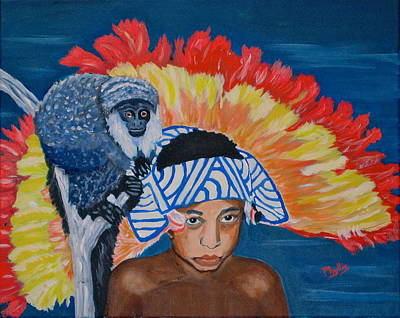 Painting - My Little Amazon Boy by Phyllis Kaltenbach