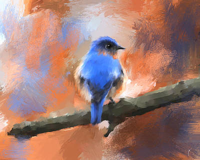 Painting - My Little Bluebird by Jai Johnson