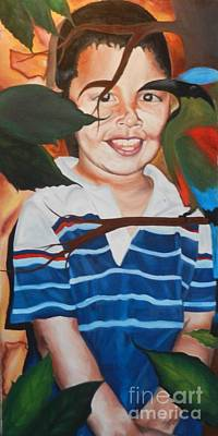 Painting - My Little Brother by Juan Molina