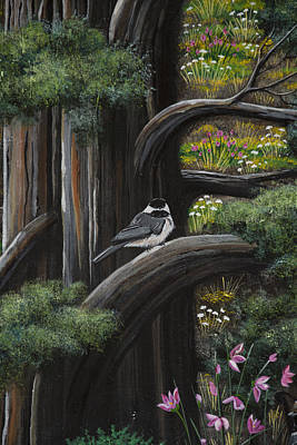 Painting - My Little Chickadee by Jennifer Lake