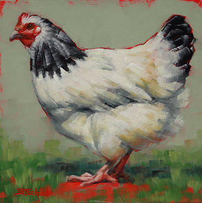 Light Sussex Hen Art Print
