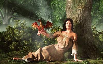 Pets Art Digital Art - My Little Dragon by Daniel Eskridge