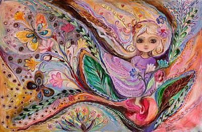 Big Eyed Girl Painting - My Little Fairy Nicole by Elena Kotliarker