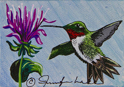 Painting - My Little Hummingbird by Jennifer Lake