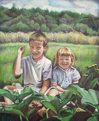 Ontario Portrait Artist Painting - My Little Sister by Sheila Diemert