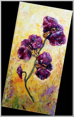 My Little Violet Orchids  Art Print