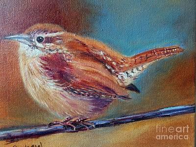 Carolina Wren Painting - My Little Wren by Patricia Pushaw
