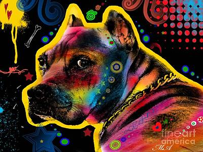 Pitbull Digital Art - My Lovely Guy by Mark Ashkenazi