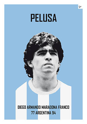 Digital Art - My Maradona Soccer Legend Poster by Chungkong Art