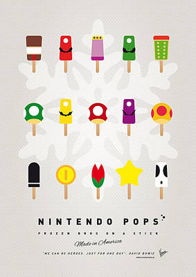 Coin Wall Art - Digital Art - My Mario Ice Pop - Univers by Chungkong Art