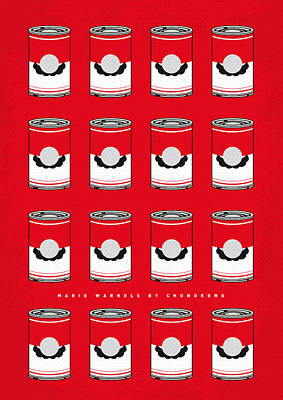 Video Digital Art - My Mario Warhols Minimal Can Poster-mario-2 by Chungkong Art