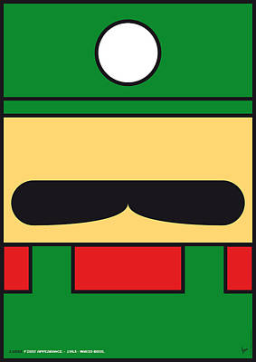 Brothers Digital Art - My Mariobros Fig 02 Minimal Poster by Chungkong Art