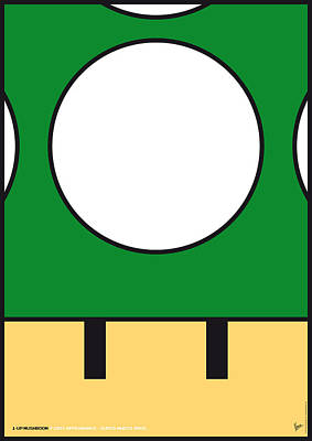 Brothers Digital Art - My Mariobros Fig 05b Minimal Poster by Chungkong Art